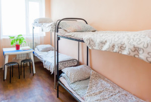спальня в хостеле для иногородних